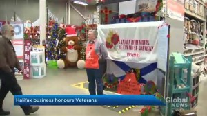 Former military member honours veterans at Halifax business